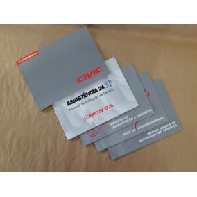 Kit Manual Proprietário Honda Civic 1999 2000 1.6 Original