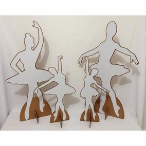 4 Display De Chão Totem Painel Cenário - Bailarina Silhueta