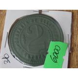 Ficha Salitrera Antofagasta $2 Pesos Verde