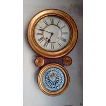 Reloj Antiguo De Pared A Pendulo Ansonia