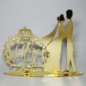 Topo De Bolo (casamento - Com Monograma)