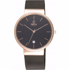 Reloj Obaku Negro Para Caballero V153gdvbm Original Envío Gr