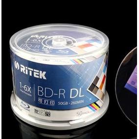 Bluray Ritek 50 Gb Printable 6x Dl Ink Doble Capa Ink