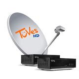 Kit Satelital Tuves 2 Decos + 6 Meses Plan Tv