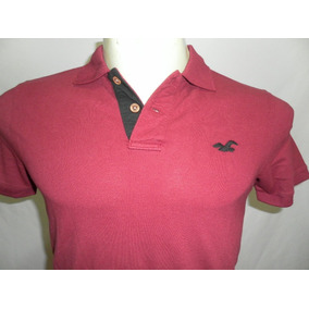 Camiseta Polo Hollister Masculina 100% Original Em Medio