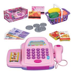 Caixa Maquina Registradora Infantil Acessório Som P/ Menina