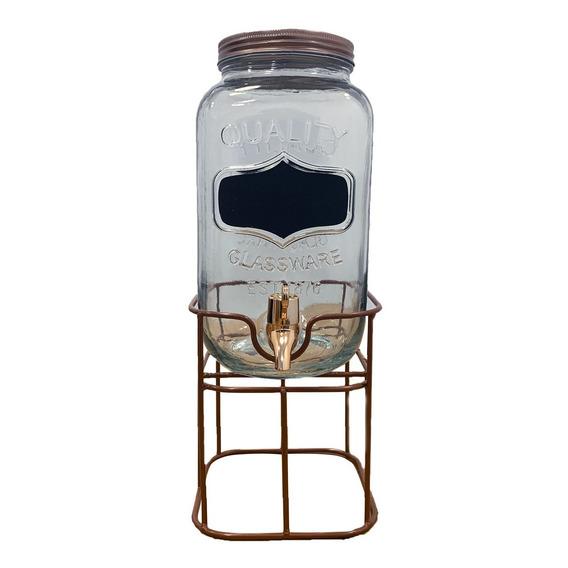 Frasco Dispenser Vidrio Con Base Canilla Hermetica 3.5lt 1un