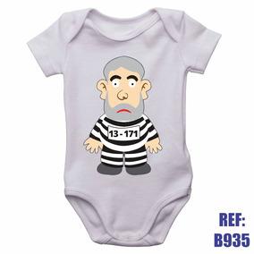 Body Infantil Lula Preso Cadeia Lava Jato Roupinha Bebê