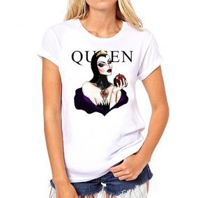 Camiseta Vilãs Rainha Princesas Personalizada Branca Neve