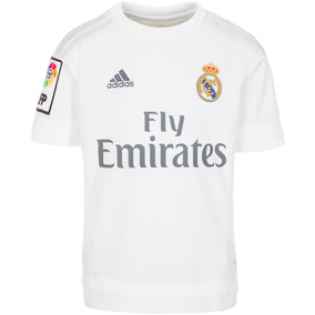 Playera Jersey Local Real Madrid 15/16 Niño adidas S12659