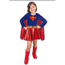 Disfraz De Super Chica Carnaval Carnavalito T: 4-6-8