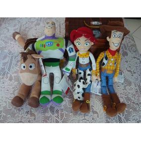 Kit Pelucia Boneco Toy Story Woody Jessie Buzz Bala No Alvo