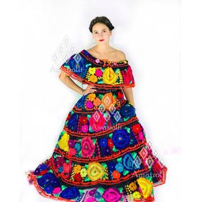 Traje Típico Mexicano Bordado 100% A Mano De Gala
