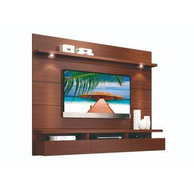 Home Mueble Tv Panel Colgante Pared 3 Cajones 2,2 Mdp Castño