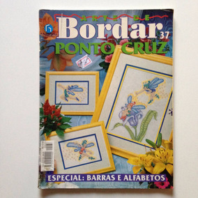 Revista Arte De Bordar Ponto Cruz Barras E Alfabetos Nº37