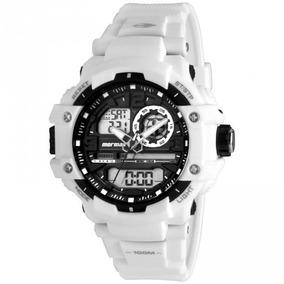 Relógio Mormaii Grande Anadigi Branco 100 M - Super Promoção