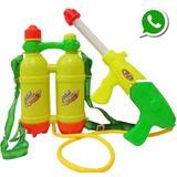 Pistola Lanza Agua Con Mochila Doble Tanque Cap. 2 Litros