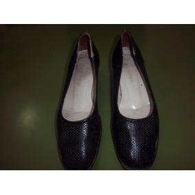 Zapatos De Cuero Taco Chino,n.37