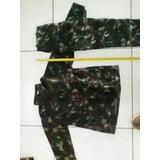 Conjunto Infantil Farda Militar Camuflada Padrão Exército