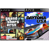 Gta San Andreas + Daytona Usa Ps3 Combo Digital Original