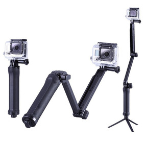 Bastão Monopod Retrátil Gopro Hero 5 4 3 3+ Tripe 3 Way Full