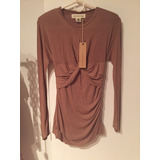Camisa Minivestido Mujer Color Camel Talle S Paula Cahen D