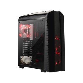 Gabinete Thermaltake Versa N27 Black Red Led Midtower Fan