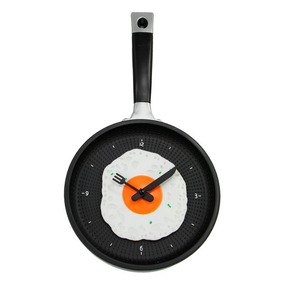 Reloj De Pared Diseño Sarten / Huevo