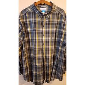 Camisa Columbia Talle Especial Grande 4xl Eeuu Azul/amarillo