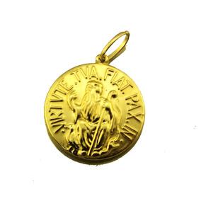 Medalha Cruz De São Bento Estilo Ouro Velho - Pingentes de Ouro no ... 526d8bdada