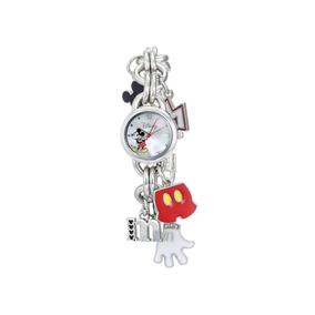 Disney Mickey Mouse Exclusivo Reloj De Pulsera Con Charms