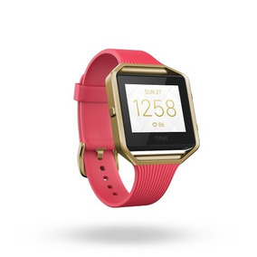 Fitbit Blaze Accessory Band Tapered Slim Pink With Gold Fra