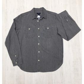 Camisa Hombre Gap De Jean Manga Larga - Usa Original
