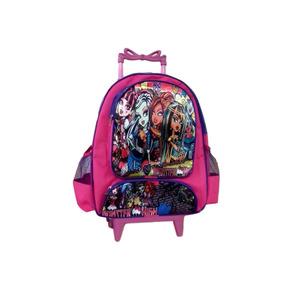 Mochila Escolar Infantil Monster High Com Rodinhas