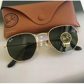 ... Dourado   Lentes Verdes Rb3548 Original. São Paulo · Oculos De Sol Rayban  Hexagonal Lente Preta   Frete Gratis d5d045cfe5