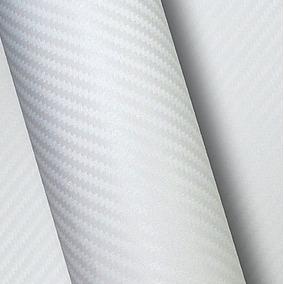Envelopamento Fibra Carbono Branco Teto 5mx1,22m + Espatula