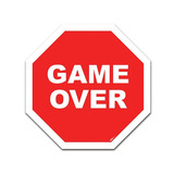 Placa Decorativa Trânsito Game Over