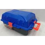 Caja Plástica Estanca Camping 36x29x20 Azul & Negro 16 L.
