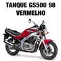 Tanque Combustível Gs500 98 Vermelho Original Suzuki Novo