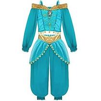 Disfraz Para Niña Disney Princesa Jasmine Vestido De Las Mu