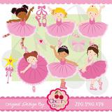 Kit Imprimible Pack Imagenes Png Bailarinas Rosa Baile Danza