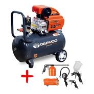 Compresor De Aire Daewoo 50lts 2.5hp Portatil +kit De Pintar