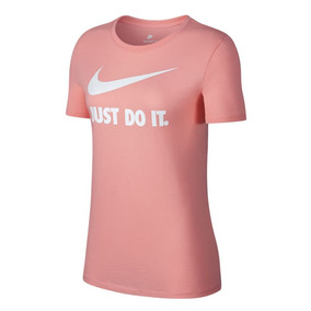 Remera Nike Crew Swoosh Rosa Mujer