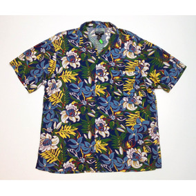 Camisa Hawaiana Floreada Surf Polo Ralph Lauren Talle Xl 671