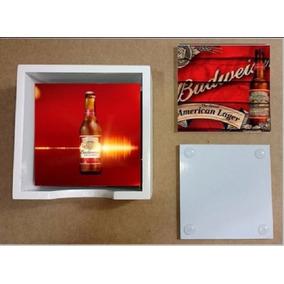Porta Copos Em Vidros Personalizados Budweiser Na Caixa Em