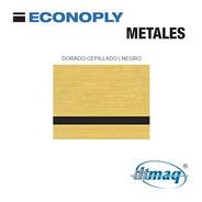 Plástico Bicapa Laserable Econoply Metalizado 60x40 Fino Dor