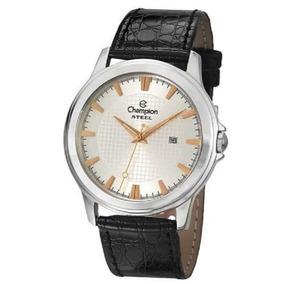 Relógio Champion Steel Analógico Pulseira Couro Ca21188q