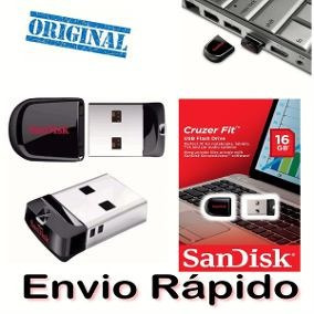 Kit Com 10 Ultra Mini Pen Drive Nano Sandisk Cruzer Fit 16gb