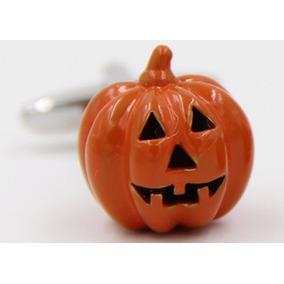 Mancuernillas Calabaza Halloween Dia De Muertos Acero Camisa