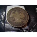 Moneda De 1 Peso Caballito Año 1910. Plata Ley.